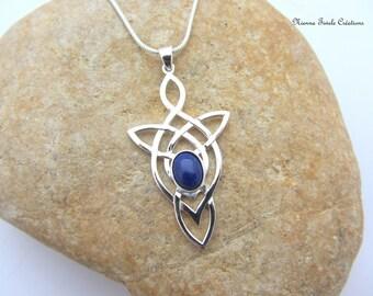 Celtic, elvish,  lapis lazuli necklace, precious stone necklace, celtic jewelry, elvish jewelry, lapis lazuli jewelry, french hand made