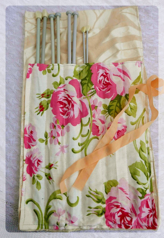 Knitting Needles Norwich : Knitting needle keeper gift for knitter brush