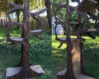 5' Handmade Cat Tree Shaped Like a Tree!