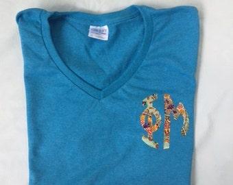 Phi Mu Letter Shirt - custom monogram