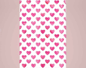 Mobile phone case Hearts pink