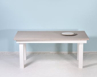 Table SPRENGEL from recycled planks & Grey Wash