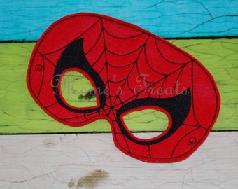 Deluxe Felt Mask -- Kids Mask – Inspired by Spiderman -- Costume – Dress-Up -- Halloween -- Pretend Play -- Party Favor