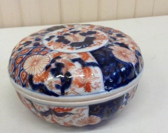 Late 1800's to early 1900's Chinese Bowl, handpainted with cover