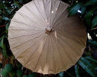 """28"""" Gold Paper Parasol Umbrella - 28PP-CG"""