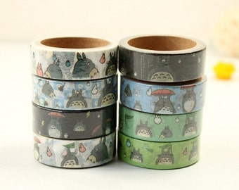 Roll of My Neighbor Totoro Washi Tape - Studio Ghibli, Planner Accessories, Kawaii Tape, Japanese Tape, Crafting Tape, Ships from USA -IMP60