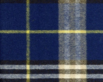 Wool Yellow and Blue Fabric by the Yard