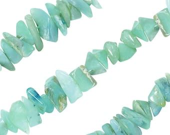 16 IN Strand 10 mm Peruvian Opal Smooth Chip Gemstone Beads (PRLCHP0010)