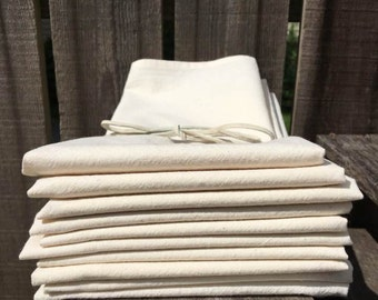 10 count Tea Towels Blank 100% cotton muslin 18x24