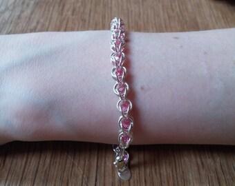 Captured Crystal Bracelet - Pink