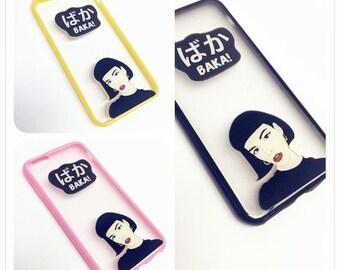 Unique 3D TPU iPhone Case | Black Yello Pink iPhone Case | Cool iphone Case 5s Cute iPhone SE Case 6, 6s | Girly iPhone Case 6 Plus | #3