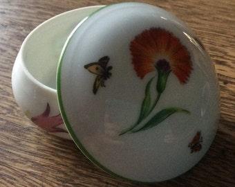 """Tiffany & Co. Limoges ~ France """"Tiffany Garden GDA Limoges France porcelain trinket box"""
