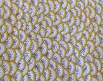 Vintage Wallpaper Yellow Scalloped by Clarence House