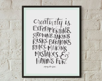 Creativity Quote Art Print | Instant Download Art Print | 8x10 Printable