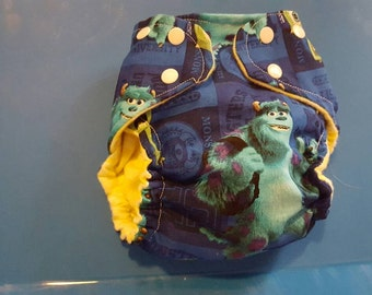 SALE!!!! Size small monsters inc. Pocket  Cloth diaper