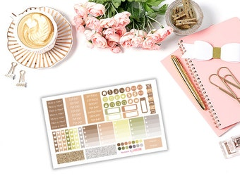 """SIMPLE Earth tones (""""milestonepages"""" personal size insert)  