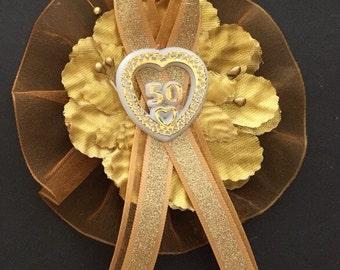 50th Wedding Anniversary Corsage/ Capia