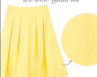 Kitson Pleated Midi Skirt