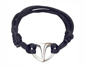 Unity Heart Adjustable Urn Bracelet - Memorial Ash Keepsake - Cremation Jewellery