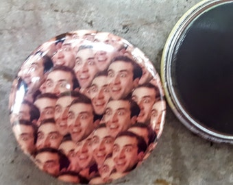 "Magnet or Pinback 2.25"" 58mm Nicholas Cage Pattern Button Fridge Magnet"