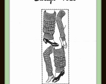 PDF Cozy LEG WARMERS Vintage Crocheted or Knitted Pattern Mail Order Design 7026 Misses Ladies