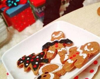 Festive Miniature Gingerbread Cookies For MSD SD BJD.