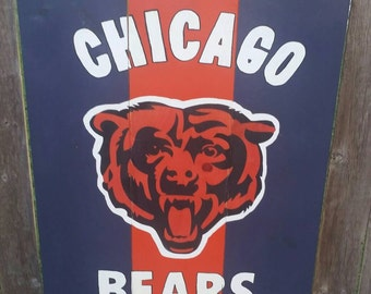 Chicago Bears hand painted wood sign