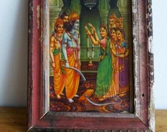 Vintage Hindu God Picture