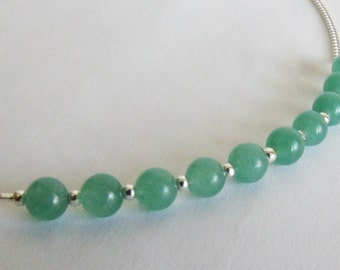 Jade and Sterling Silver Necklace