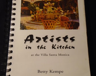 Mexico Cooking School Cookbook Artists in the Kitchen Villa Santa Monica Betty Kempe Signed San Miguel International Mexican Recipes Spiral