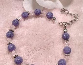 Purple swirl bracelet