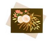 Card, Floral Card, Blank ...