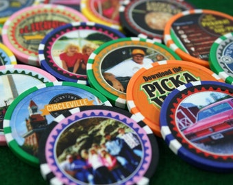 100 Personalized Poker Chips Customized with Your Photo, Logo or Image Printed Directly on the Chip in Full Color
