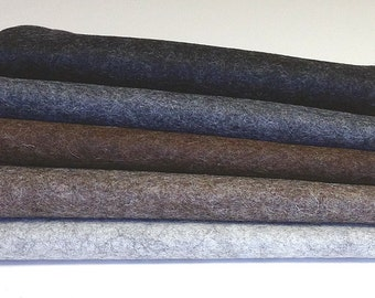 "5-Pack 18"" x 18"" Heather Colors 100% Merino Wool Felt"