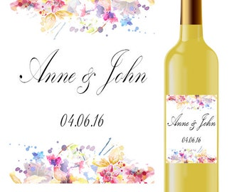 Wedding  wine label, wine label, wine sticker, wedding label, wedding sticker, custom wedding wine label,custom wedding wine sticker