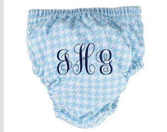 Houndstooth Personalized Baby Diaper Cover Monogrammed