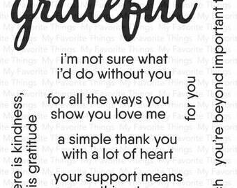 My Favorite Things Grateful for You Stamp & Dienamic Set
