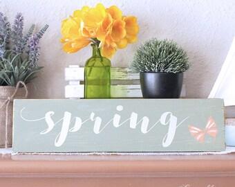 Spring Wood Sign