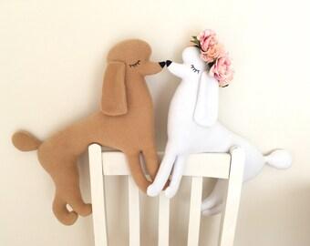 Poodle shaped soft toy / cushion (Free shipping within the UK)