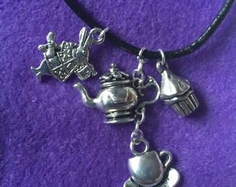 Alice In Wonderland Charm Set Necklace