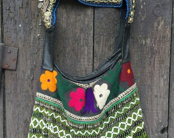 Afghan, tribal, ethnic, antique bag
