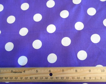 Royal blue with White Dots cotton fabric by the yard