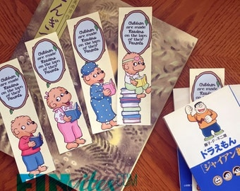 Beary Berenstain Baby Bookmarks - (F)INstant Download