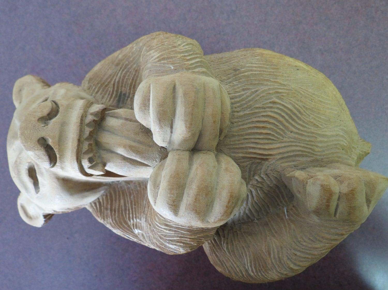 Vintage arthur court carved wood bear folk art
