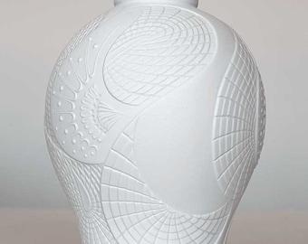 Matt white bisque porcelain vase by AK Kaiser, West Germany, 60ties