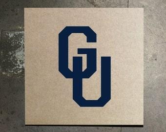 """Georgetown Vintage """"GU"""" Stencil"""