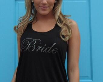 Black Flowy Bride Tank