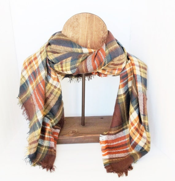 Plaid Scarf Shawl Scarf Blanket Shawl Scarf Accessories Scarf Women Scarf Neck Warmer Tartan Scarf Plaid Scarf Blanket Plaid Scarf