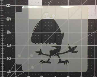 Halloween Monster Stencil 100
