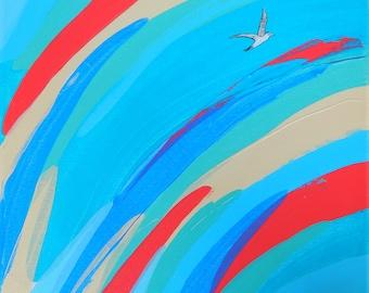 Original waves painting by Malu Castro